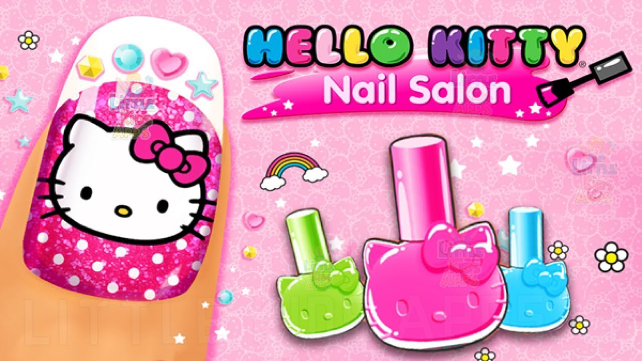 Hello Kitty Nail Salon Makeup Game Learn to Decorate