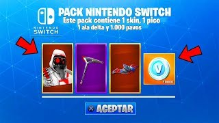 New PACK WITH FREE SKIN IN FORTNITE! FORTNITE REGALA 1 SKIN IN SWITCH