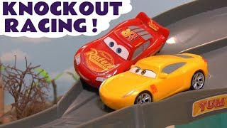 Download Disney Cars Toys McQueen Cars 3 Knockout Racing with funny Minions & Hot Wheels Car for kids TT4U Mp3 and Videos