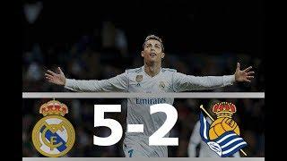 Real Madrid vs Real Sociedad 5-2 (10/02/2018) [HD] 1080P  English Commentary