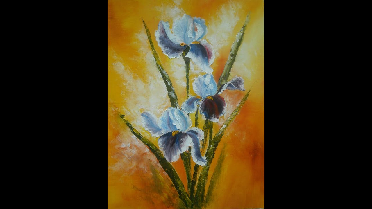 palette knife and brush  oil painting  quot irises quot  by lana irises for sale in south africa irises bulbs for sale
