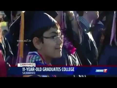 Child genius Tanishq Abraham, Graduates With 3 Degrees in U.S | World | News7 Tamil |