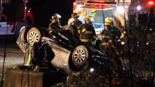 Rollover crash on Chilliwack Lake Rd