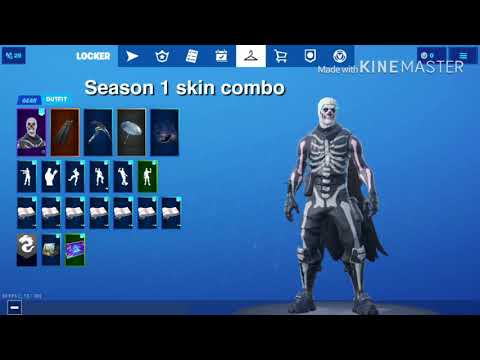 All battle pass tier 100 skins best combos(season1-season x)
