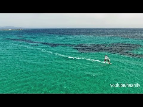 Windsurfing Action Nissakia Loutsa  Drone Greece