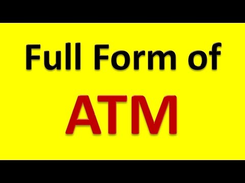 Full Form of ATM