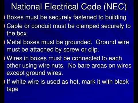 basic electrical wiring general rules - YouTube