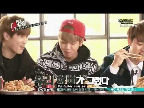 EXO SHOWTIME = EXO EATING-TIME