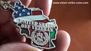 Operation Enduring Freedom Veteran Coin From Vision-Strike-Coins.Com