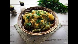 Фасоль с картошкой в мультиварке