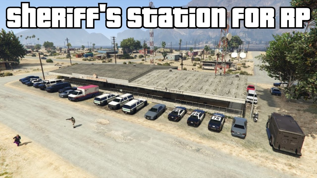 GTA 5 Online - Sandy Shores Sheriff's Station for Roleplay #1 (Fun Modded  Capture)