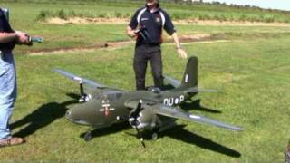 twin 7 cylinder o s sirius radial engines