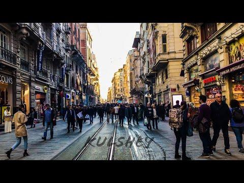 جولة في أجمل شارع في العالم / شارع استقلال في اسطنبول İstiklal street Istanbul