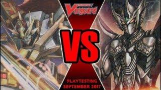 Cosmic Heroes Vs Enigman - Cardfight Vanguard Playtesting September 2017