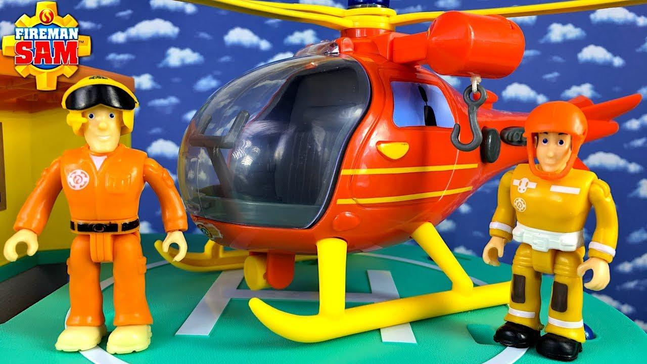 Spielzeugautos Kinder Simba Figuren Feuerwehrmann Sam Hubschrauber Figur Spielzeug Helikopter