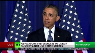 'There is no justification to Gitmo': Barack Obama's speech on counter-terrorism