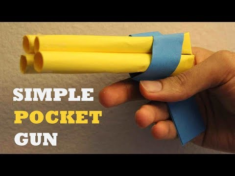 How to make a Paper Revolver that Shoots Paper Bullet l Paper Gun (Easy) Tutorial 2018