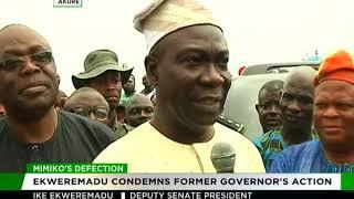 Ekweremadu bombs Mimiko for dumping PDP