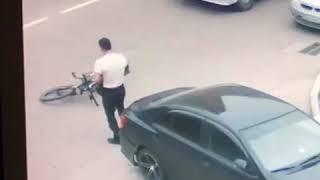 Пьяный велосипедист протаранил машину Благовещенск 18.06.2018