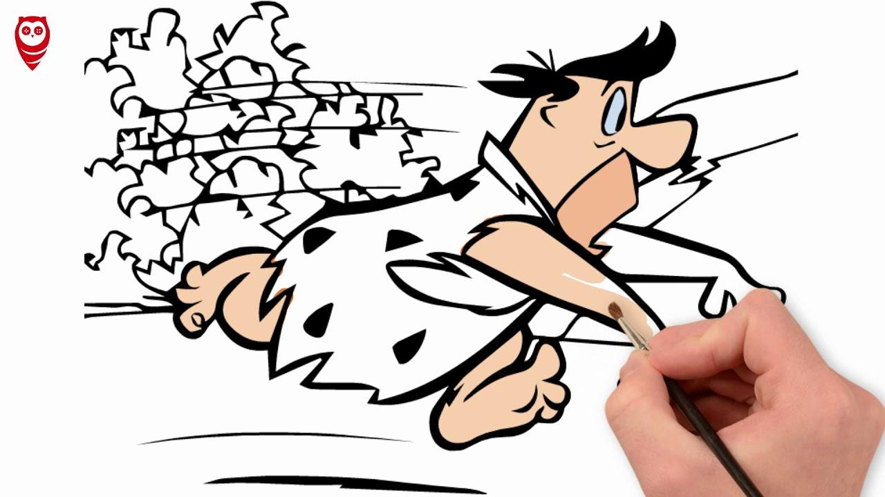 Fred çakmaktaş Taş Devri Boyama Ve çizim Sayfası çocuklar Için Nasıl