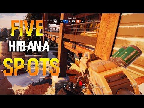 5 Hibana Spots - Rainbow Six Siege