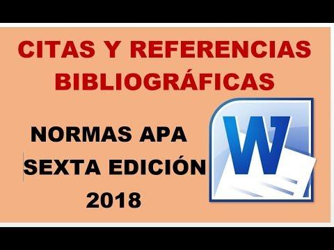 Word Cómo Insertar Citar Y Referencias Bibliográficas