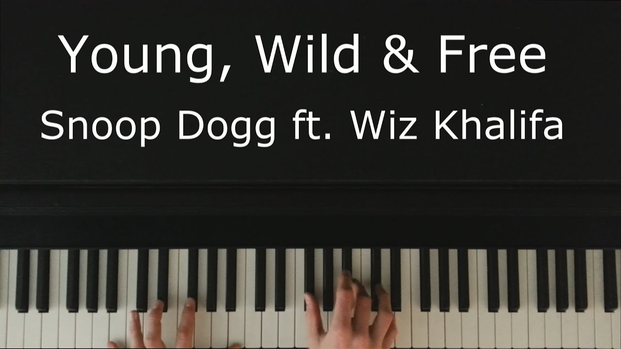 how to play young wild and free on piano notes