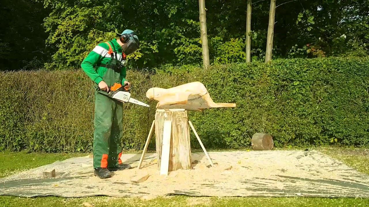 beaver chainsaw carving biber kettensägenkunst - youtube