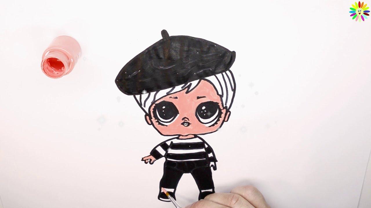 как нарисовать куклу лол батник детка / детские раскраски ...