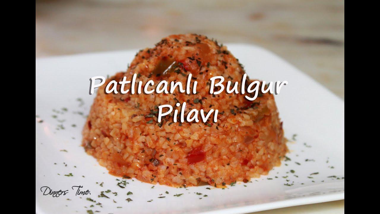 Patlıcanlı Bulgur Pilavı Tarifi Videosu