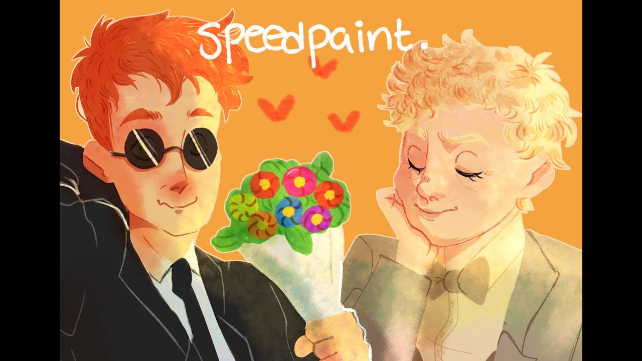 speedpaint: good ol' fashioned lover boys (good omens)