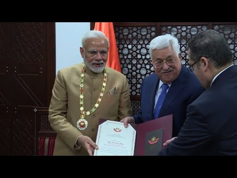 Modi becomes first Indian PM to visit West Bank