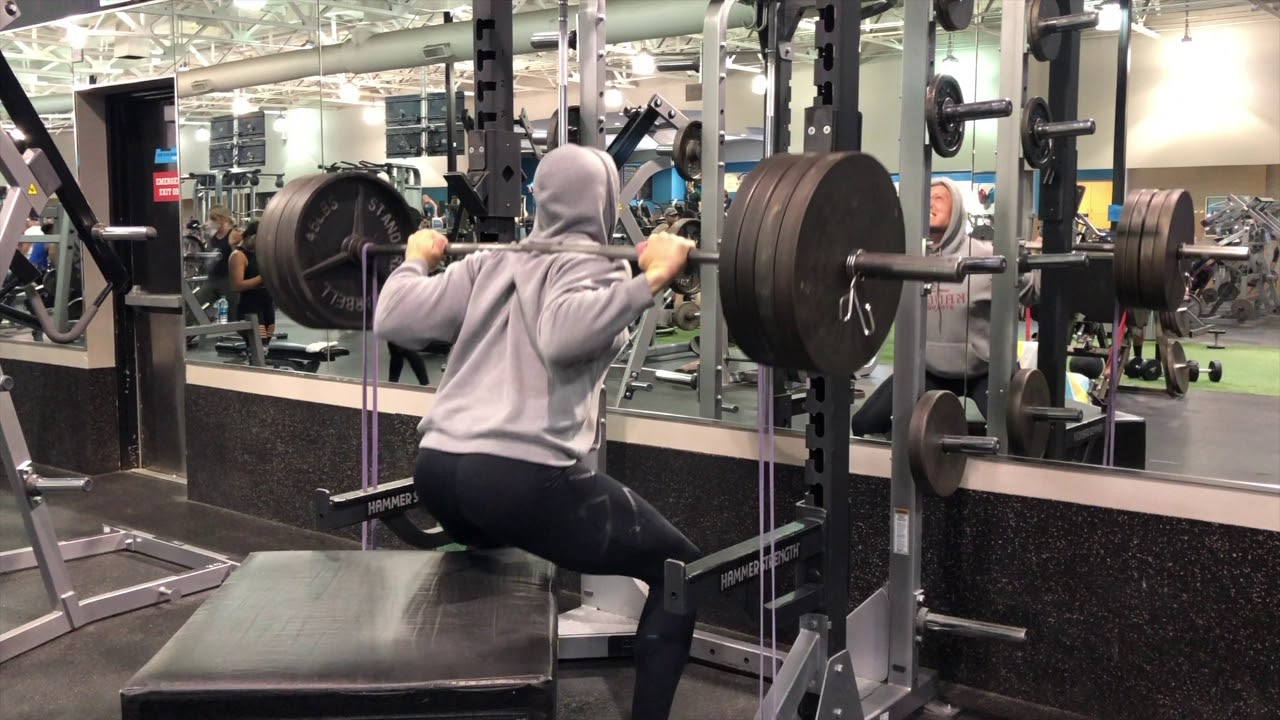 The Best Squats for Speed and Vertical: Banded High Box Squats for Athletes