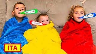 Cinque Bambini hanno il raffreddore. Video e giochi per bambini