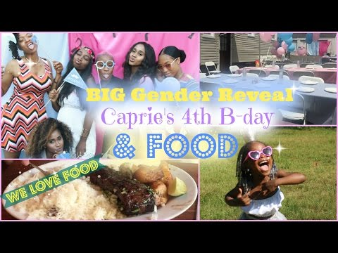 Vlog| Gender Reveal Party, Prie's 4th Birthday, & lots of eating!! | Nae and Nea