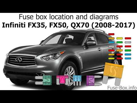 [CSDW_4250]   Fuse box location and diagrams: Infiniti FX35, FX50, QX70 (2008-2017) -  YouTube | Infiniti Fx Fuse Box |  | YouTube