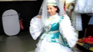 Национальное казахское платье с камзолом.www.richton.kz