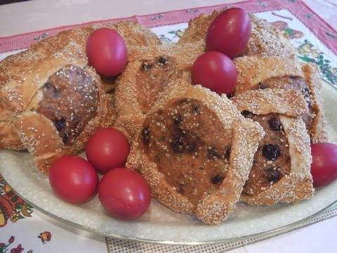 """""""FLAOUNES"""" TRADITIONAL CYPRIOT EASTER BREAD – STAVROS' KITCHEN WITH VASILIKI – CYPRIOT CUISINE."""