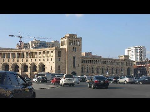 Yerevan, 23.02.18, Fr, Video-2, Depi norakaruyts biznes kentron, tesaran.