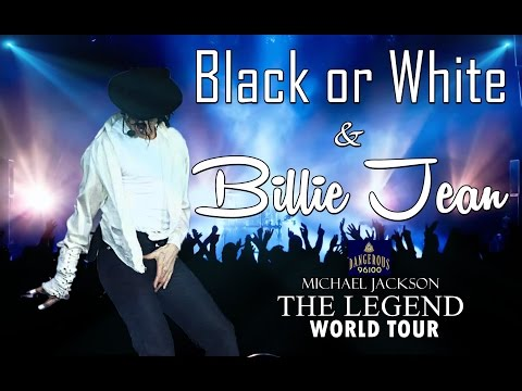 Michael Jackson - Black or White | Billie jean - The Legend World Tour