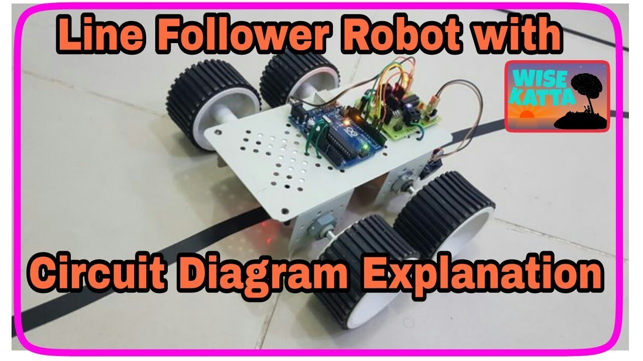 Line Follower Robot With Circuit Diagram Explanation-hindi