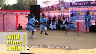 Nihangs showcase gatka skills : International Gatka Festival, Punjab