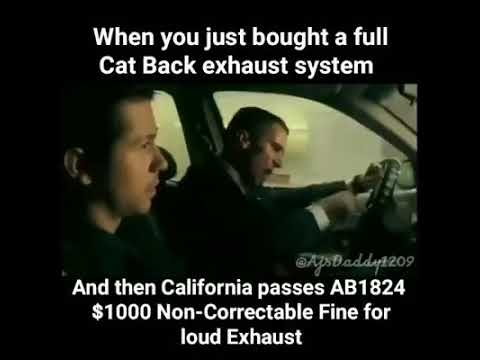 california exhaust law meme