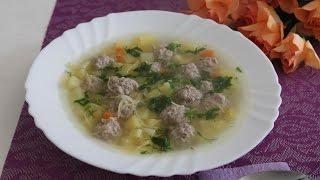 Быстрый суп с фрикадельками за 30 минут