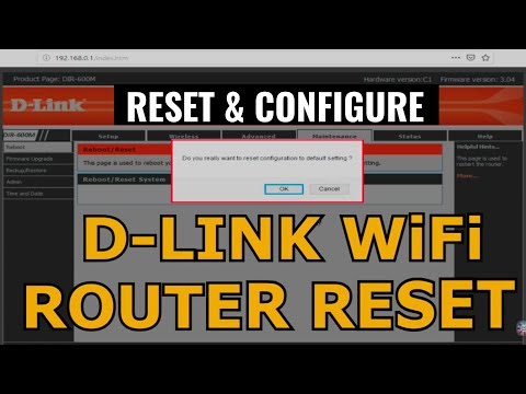 D-Link WiFi router reset/How to reset any wifi router & configure #routerreset#wifireset