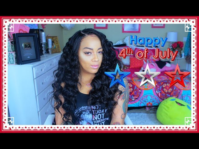 HOW IM WEARING MY HAIR ON Independence DAY  ❤ Brazilian body wave Review | Nana Hair