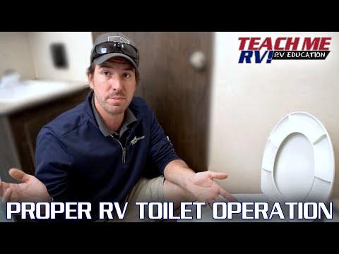 TEACH ME RV! Proper RV toilet operation.