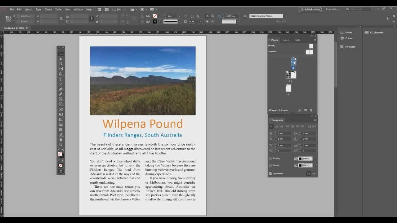 InDesign Basics – Adobe CC 2018 free tutorial for beginners
