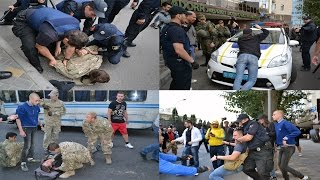 Столкновения у Генконсульства России в Одессе (Полная версия)(В Одессе 18 сентября 2016 года активисты патриотических организаций, пытались заблокировать вход в Генеральн..., 2016-09-19T12:30:17.000Z)
