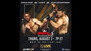 PFL 5 features Will Brooks and others in the $10 million tournament Live Reaction!